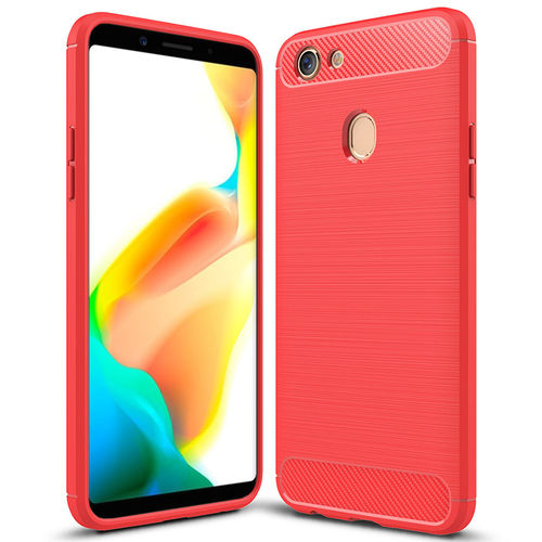 Flexi Carbon Fibre Tough Case for Oppo A73 / F5 - Red Brushed